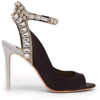 Sophia Webster Lorena Crystal Embellished Heels - Womens - Black Silver