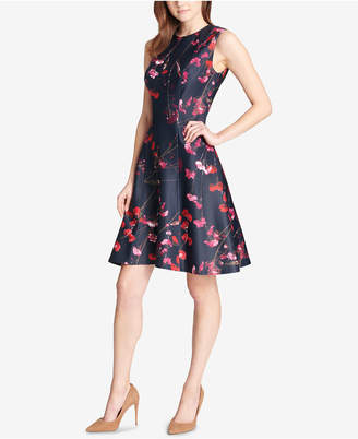 Tommy Hilfiger (トミー ヒルフィガー) - Tommy Hilfiger Floral Scuba Fit & Flare Dress