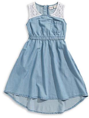 MANGUUN Chambray Sleeveless Dress