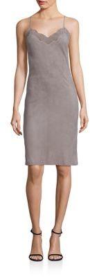 Polo Ralph Lauren Suede Slip Dress $1,298 thestylecure.com