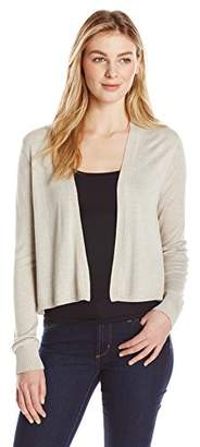Lark & Ro Women's Lightweight Long Sleeve Short Cardigan Sweater