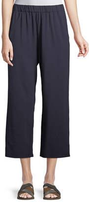 Eileen Fisher Slouchy Cropped Organic Slub Jersey Pants