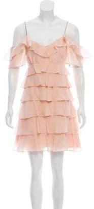 Rachel Zoe Silk Off-The-Shoulder Dress