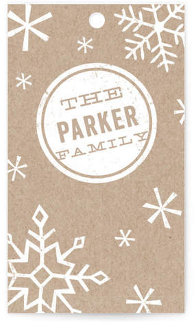 Snowflake and Stamp Gift Tags