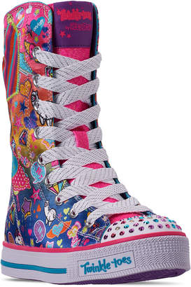 eac83e04273c Skechers Little Girls  Twinkle Toes  Twinkle Lite - Pocket Party Super High  Top Casual