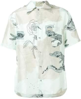 Lanvin short-sleeve printed shirt
