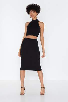 Nasty Gal Why Halter-nate Crop Top and Midi Skirt Set