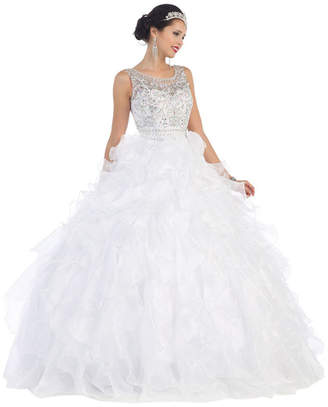 Asstd National Brand Lace Up Back Formal Prom & Quinceanera Gown - Juniors