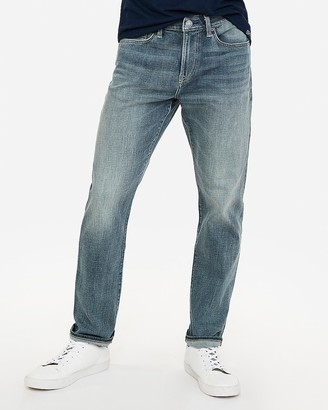 Express Classic Boot Medium Wash Tough Hyper Stretch Jeans