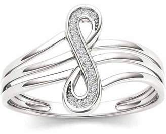 Imperial Diamond Imperial 1/20 Carat T.W. Diamond 10kt White Gold Infinity Loop Fashion Ring