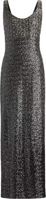 Ralph Lauren Sleeveless Sequined Gown