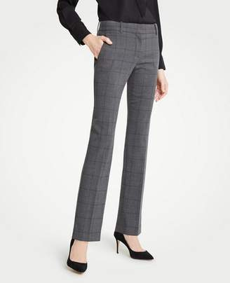 Ann Taylor The Tall Straight Leg Pant In Glen Plaid - Classic Fit