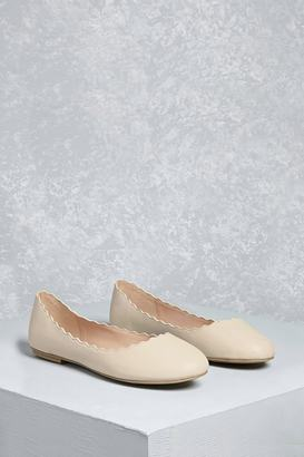 FOREVER 21+ MIA Scalloped Ballet Flats $48 thestylecure.com