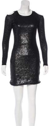 Yigal Azrouel Cut25 by Long Sleeve Mini Dress