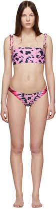 Proenza Schouler Pink Tie-Dye Bandeau Bikini