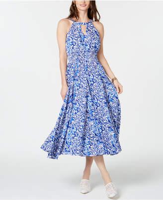 INC International Concepts I.n.c. Petite Cotton Printed Peasant Dress
