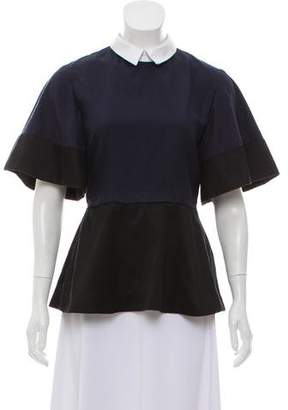 Undercover Pleated Short Sleeve Top