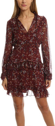 Nicholas Maple Print Yoke Dress