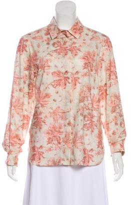 Brock Collection Printed Button-Up Top