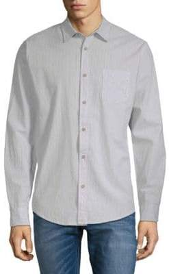 Saks Fifth Avenue Striped Cotton Button-Down Shirt