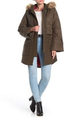 Joie Hetal Layered Faux Fur Trim Coat
