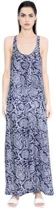 Theory Coruna Paisley Silk Georgette Dress