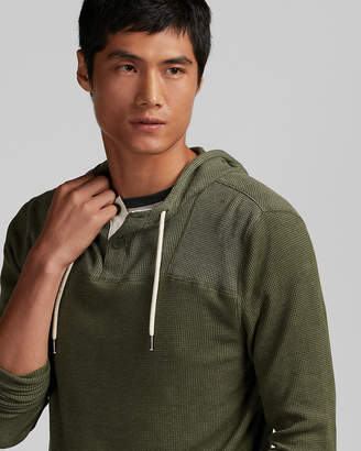 Express Hooded Waffle Henley