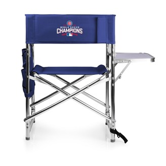 Picnic Time Chicago Cubs 2016 World Series Champions Sports Side Table Chair