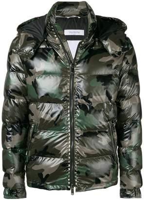 Valentino camouflage padded jacket