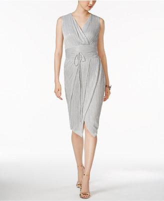 Rachel Rachel Roy Pleated Metallic Wrap Dress $149 thestylecure.com