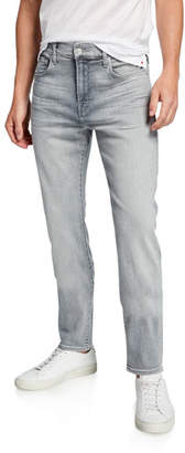 7 For All Mankind Men's Adrien Gray-Wash Skinny Jeans