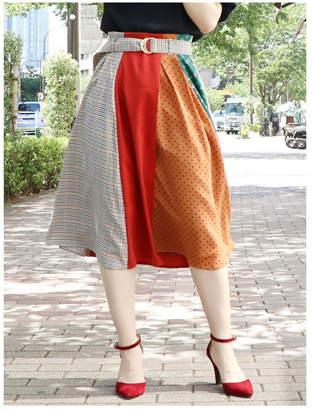 dazzlin (ダズリン) - dazzlin パッチワークミディスカート ダズリン スカート