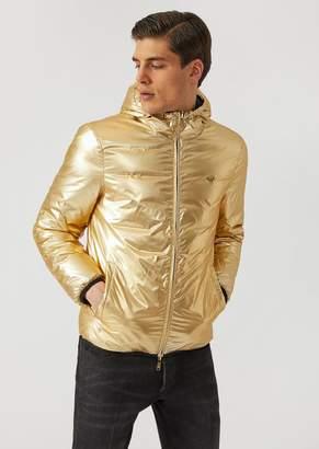Emporio Armani Padded Reversible Laminated Jacket