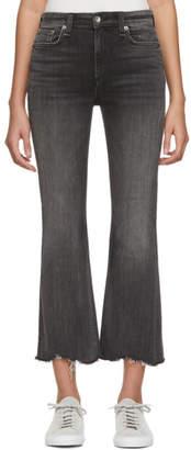 Rag & Bone Black Nina High-Rise Jeans