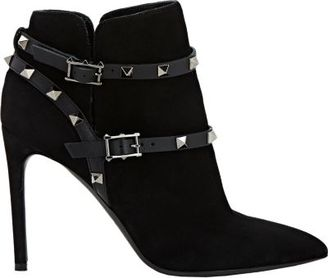 Valentino Women's Rockstud Ankle Booties-BLACK $1,445 thestylecure.com