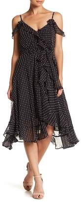 Betsey Johnson Swiss Dot Wrap Dress