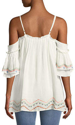 Red Carter Embroidered Swim Coverup Dress