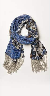 J.Mclaughlin Jaipur Reversible Cashmere Scarf in Midi Maison Fleur