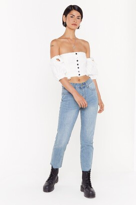 Nasty Gal Put An End to It Mom Jeans