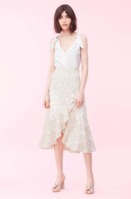 10feb58eaf6 Rebecca Taylor Nicola Embroidered Wrap Skirt