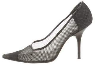 Calvin Klein Collection Mesh Pointed-Toe Pumps