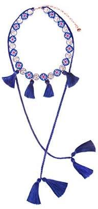 Shourouk Sautoir Mini Blue Necklace of 22.5cm