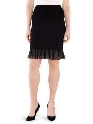 Stizzoli, Plus Size Ruffle-Trim Pencil Skirt
