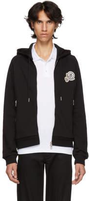 Moncler Black Maglia Logo Zip-Up Hoodie