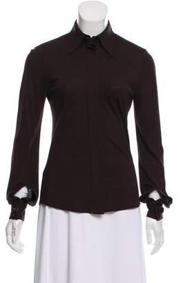 Barbara Bui Long Sleeve Knit Button-Up