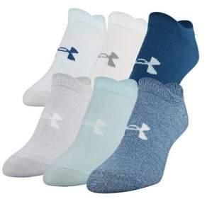 Under Armour 6-Pack Logo Ankle Socks
