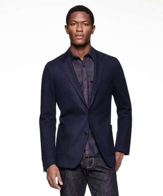 Todd Snyder Black Label Sutton Unconstructed Sport Coat in Italian Navy Heather Wool