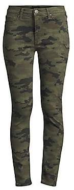 Hudson Jeans Women's Camo High-Rise Skinny Jeans