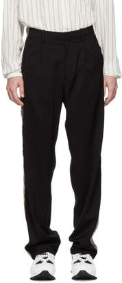 Our Legacy Black Sidetaped Pleated Trousers