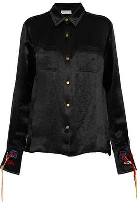 Sonia Rykiel Embroidered Textured-Satin Shirt